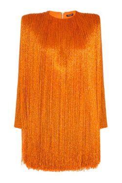 Платье С Бахромой Balmain                                                                                                              оранжевый цвет