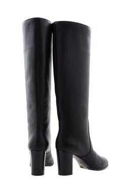 Кожаные Сапоги Sergio Rossi                                                                                                              чёрный цвет