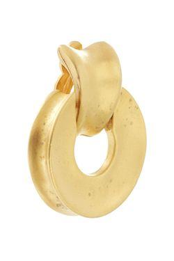 Клипсы С Матовой Позолотой 90Е Givenchy                                                                                                              золотой цвет