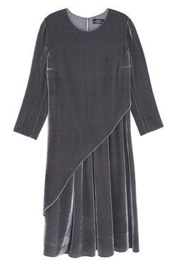 Бархатное Платье Alena Akhmadullina                                                                                                              серый цвет
