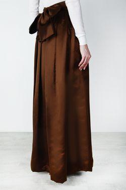 Шелковая Юбка 80-Е Escada By Margaretha Ley                                                                                                              коричневый цвет