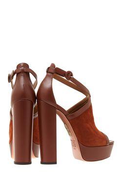 Замшевые Босоножки Lessa Aquazzura                                                                                                              Шоколадный цвет