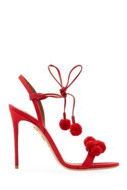 Босоножки Pon Pon Sandal Aquazzura                                                                                                              красный цвет