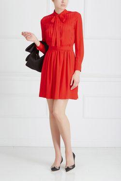 Шелковое Платье Moschino Boutique                                                                                                              красный цвет