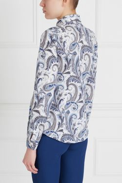 Хлопковая Рубашка Etro                                                                                                              белый цвет