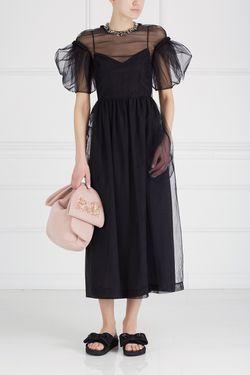 Полупрозрачное Платье Simone Rocha                                                                                                              черный цвет
