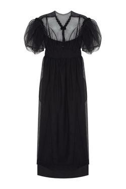 Полупрозрачное Платье Simone Rocha                                                                                                              чёрный цвет