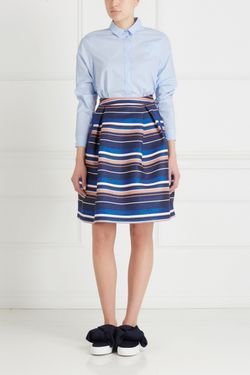 Хлопковая Блузка Victoria Andreyanova                                                                                                              голубой цвет
