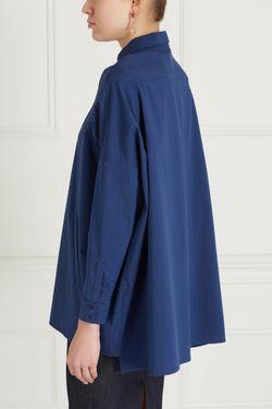 Однотонная Блузка Victoria Andreyanova                                                                                                              синий цвет