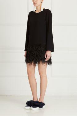 Платье С Перьями Elizabeth And James                                                                                                              чёрный цвет