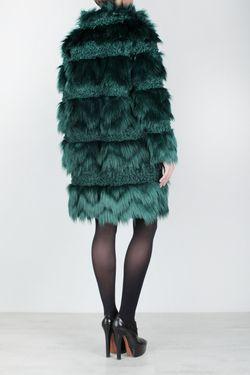 Шуба Из Искусственного Меха Anna Sui Vintage                                                                                                              зелёный цвет