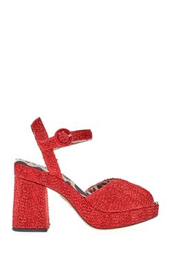 Кожаные Босоножки Into The Wild Charlotte Olympia                                                                                                              красный цвет