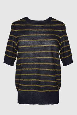 Топ В Тонкую Золотую Полоску ALC                                                                                                              черный цвет