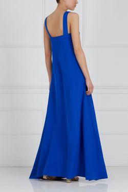 Шелковое Платье Natalia Valevskaya                                                                                                              синий цвет