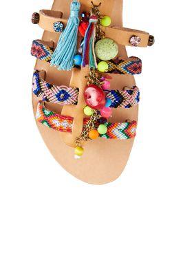Кожаные Сандалии MABU by Maria BK                                                                                                              многоцветный цвет