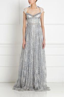 Платье С Кристаллами Ozlem Suer                                                                                                              белый цвет