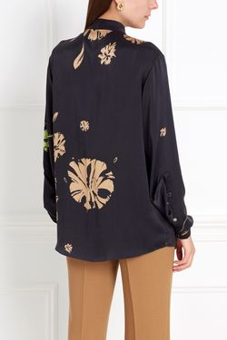 Шелковая Блузка Chapurin                                                                                                              чёрный цвет