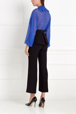 Шелковая Блузка Chapurin                                                                                                              синий цвет