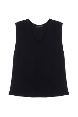 Шелковый Топ Chapurin                                                                                                              чёрный цвет