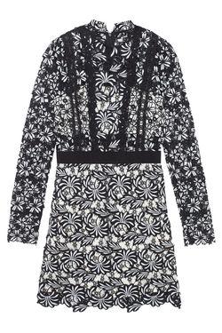 Кружевное Платье SELF-PORTRAIT                                                                                                              чёрный цвет