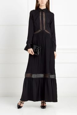 Платье В Пол SELF-PORTRAIT                                                                                                              чёрный цвет