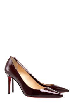Туфли Из Лакированной Кожи Decollete 85 Christian Louboutin                                                                                                              Вишневый цвет