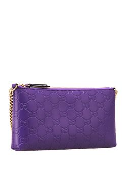 Кожаный Бумажник Gucci                                                                                                              фиолетовый цвет