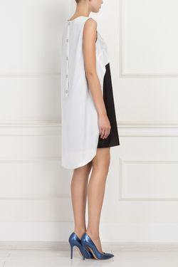 Двухцветное Платье ARnouveau                                                                                                              черный цвет