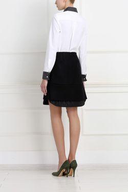 Хлопковая Рубашка Michael Kors                                                                                                              черный цвет