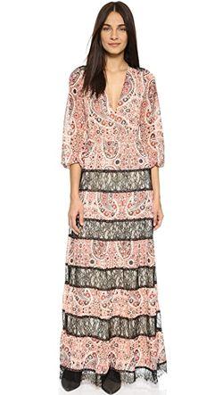 Макси-Платье Daren С V-Образным Вырезом Alice+Olivia                                                                                                              черный цвет