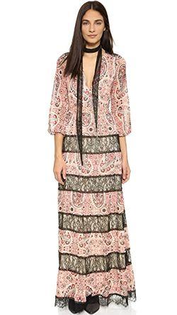 Макси-Платье Daren С V-Образным Вырезом Alice + Olivia                                                                                                              чёрный цвет