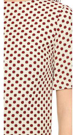 Свободное Платье Mandy С Вырезом Лодочкой Alice + Olivia                                                                                                              красный цвет