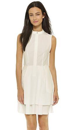 Платье-Рубашка На Пуговицах Derek Lam 10 Crosby                                                                                                              белый цвет