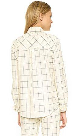Фланелевая Рубашка В Клетку Derek Lam 10 Crosby                                                                                                              золотой цвет
