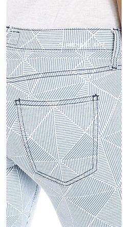 Джинсы-Скинни До Щиколотки Stiletto Current/Elliott                                                                                                              Принт Diamonder цвет