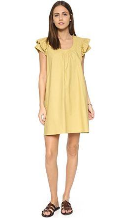 Платье С Широкими Рукавами Cynthia Rowley                                                                                                              зелёный цвет