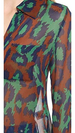 Рубашка На Двух Пуговицах Lorelei Diane Von Furstenberg                                                                                                              зелёный цвет