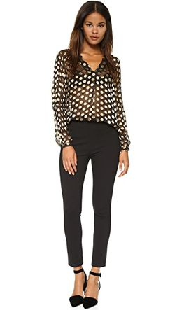Блуза С V-Образным Вырезом Diane Von Furstenberg                                                                                                              чёрный цвет