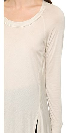 Топ С Длинными Рукавами И Овальным Вырезом Donna Karan New York                                                                                                              коричневый цвет