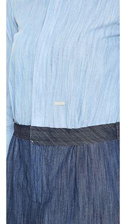 Платье Из Денима С Короткими Рукавами Dsquared2                                                                                                              голубой цвет