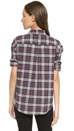 Рубашка На Пуговицах New Carine Elizabeth And James                                                                                                              Черно-Вишневая Клетка цвет