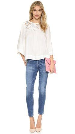 Блуза Crescent С Оборками И Цветочным Принтом Ella Moss                                                                                                              коричневый цвет