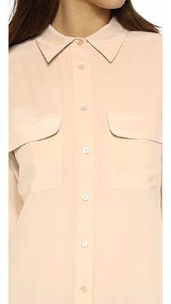 Узкая Фирменная Блуза Equipment                                                                                                              оранжевый цвет