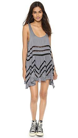 Платье-Комбинация Trapeze Free People                                                                                                              серый цвет