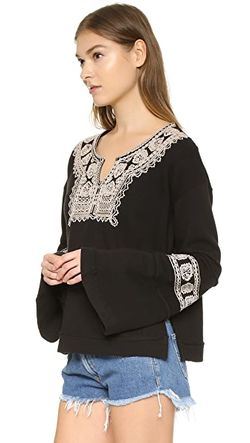 Пуловер Tiger Santa Maria Free People                                                                                                              чёрный цвет