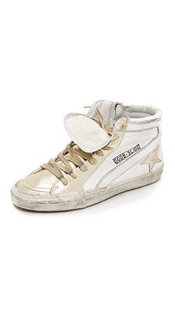 Кроссовки Slide С Высоким Берцем Golden Goose                                                                                                              белый цвет