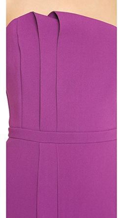 Вечернее Платье Без Бретелек С Отложным Элементом Halston Heritage                                                                                                              Маджента цвет