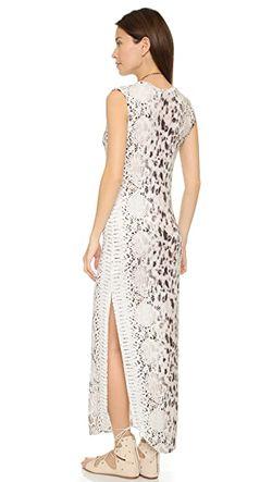 Длинное Платье Без Рукавов С V-Образным Вырезом Haute Hippie                                                                                                              оранжевый цвет