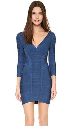 Платье Kahli Hervé Léger                                                                                                              голубой цвет