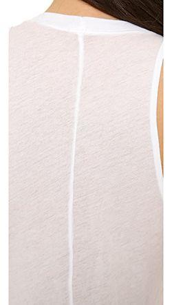 Длинная Трикотажная Майка Monrow                                                                                                              белый цвет